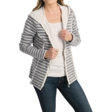 FDJ French Dressing Heathered Stripe Hoodie - Full Zip (For Women) in Grey - Closeouts