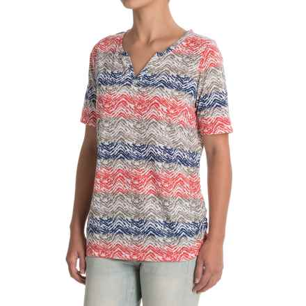 FDJ French Dressing Horizontal Chevron Shirt - Short Sleeve (For Women) in Multi - Closeouts
