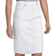 FDJ French Dressing Jean Skirt - Stretch Denim (For Women) in White - Closeouts