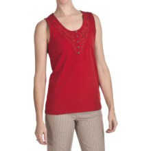 FDJ French Dressing Lace Trim Tank Top (For Women) in Lipstick - Closeouts