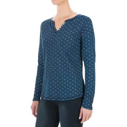 FDJ French Dressing Medallion Print Shirt - Long Sleeve (For Women) in Indigo - Closeouts