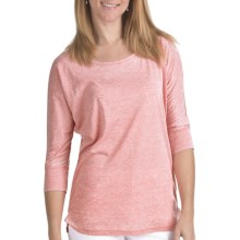 FDJ French Dressing Misty Shirt - Burnout Cotton Blend, 3/4 Sleeve (For Women) in Coral - Closeouts