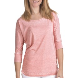 FDJ French Dressing Misty Shirt - Burnout Cotton Blend, 3/4 Sleeve (For Women) in Coral
