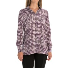 FDJ French Dressing Navajo Stripe Shirt - Long Sleeve (For Women) in Plum - Closeouts