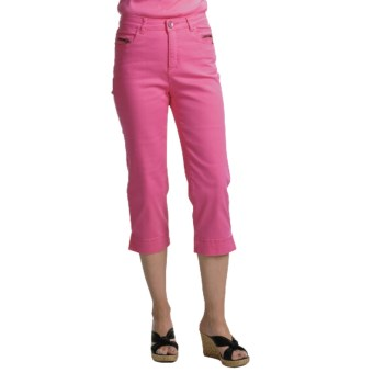 FDJ French Dressing Olivia Capri Pants - Detailed Pocket Stitching (For Women) in Hibiscus