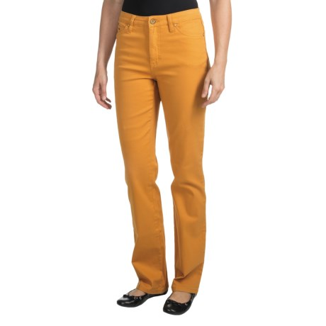 FDJ French Dressing Olivia Colored Denim Jeans - Straight Leg (For Women) in Mustard
