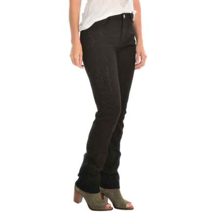 FDJ French Dressing Olivia Multi Bling Supreme Jeans - Slim Leg (For Women) in Black - Closeouts