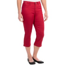 FDJ French Dressing Olivia Silk Touch Denim Capris (For Women) in Red - Closeouts