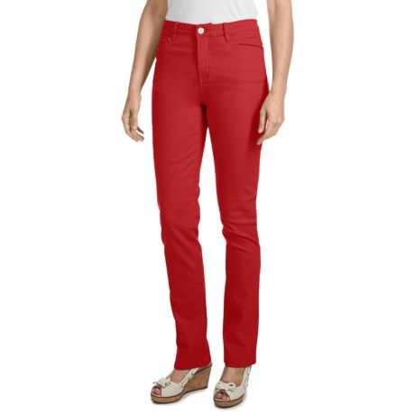 FDJ French Dressing Olivia Slim-Leg Pants - Colored Denim, Stretch (For Women) in Lipstick