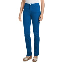 FDJ French Dressing Olivia Slim-Leg Pants - Colored Denim, Stretch (For Women) in Turquoise Blue
