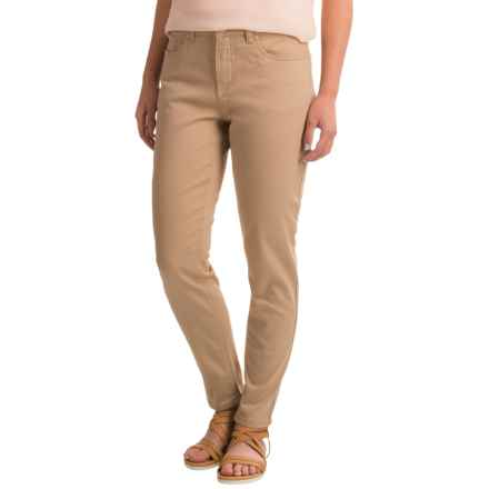 FDJ French Dressing Olivia Slim Stretch Pocket Ankle Pants (For Women) in Khaki - Closeouts