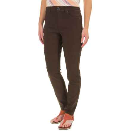 FDJ French Dressing Olivia Techno Rayon Pants - Slim Leg (For Women) in Expresso - Closeouts
