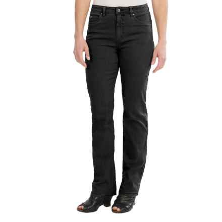 FDJ French Dressing Overdye Olivia Jeans - Straight Leg (For Women) in Onyx - Closeouts