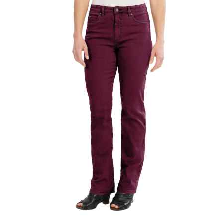 FDJ French Dressing Overdye Olivia Jeans - Straight Leg (For Women) in Wine - Closeouts