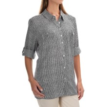 FDJ French Dressing Painterly Stripe Tunic Shirt - 3/4 Sleeve (For Women) in Black/White - Overstock
