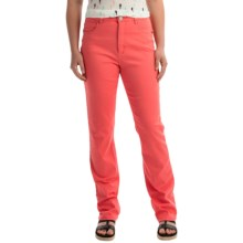 FDJ French Dressing Peggy Colored Jeans - Straight Leg (For Women) in Coral - Closeouts