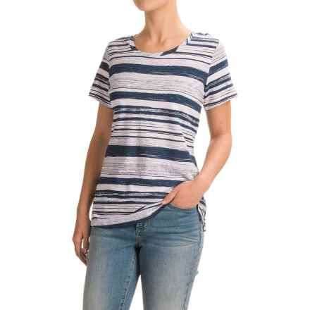 FDJ French Dressing Pencil Stripe T-Shirt - Short Sleeve (For Women) in Indigo - Closeouts