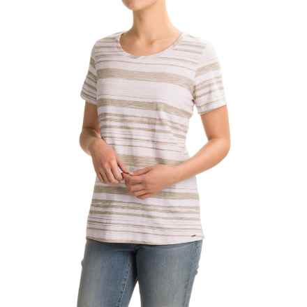 FDJ French Dressing Pencil Stripe T-Shirt - Short Sleeve (For Women) in Putty - Closeouts