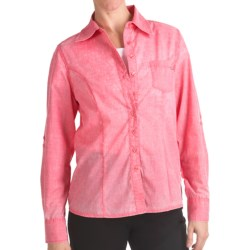 FDJ French Dressing Pigment-Dyed Woven Shirt - Long Roll-Up Sleeve (For Women) in Poppy
