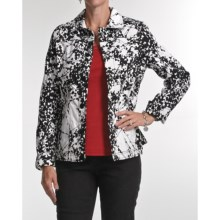 FDJ French Dressing Print Jacket (For Women) in Black - Closeouts