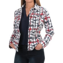 FDJ French Dressing Printed Denim Jacket (For Women) in Watercolor Navy - Overstock