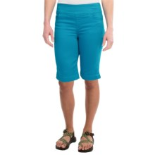 FDJ French Dressing Pull-On Bermuda Shorts (For Women) in Malibu Blue - Closeouts