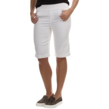 FDJ French Dressing Pull-On Bermuda Shorts (For Women) in White - Closeouts