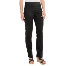 FDJ French Dressing Pull-On Pants - Straight Leg (For Women) in Ebony - Closeouts