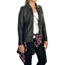 FDJ French Dressing Quilted Faux-Leather Jacket (For Women) in Black - Closeouts