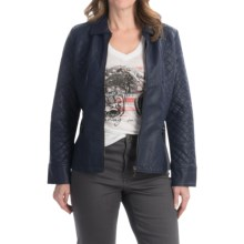 FDJ French Dressing Quilted Faux-Leather Jacket (For Women) in Indigo - Closeouts