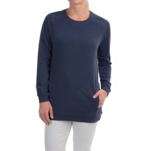 FDJ French Dressing Quilted-Shoulder Sweatshirt (For Women) in Blue - Closeouts