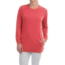 FDJ French Dressing Quilted-Shoulder Sweatshirt (For Women) in Coral - Closeouts