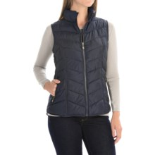 FDJ French Dressing Quilted Vest - Full Zip (For Women) in Blue - Closeouts