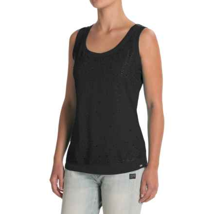 FDJ French Dressing Rhinestone Front Cami Tank Top (For Women) in Black - Closeouts
