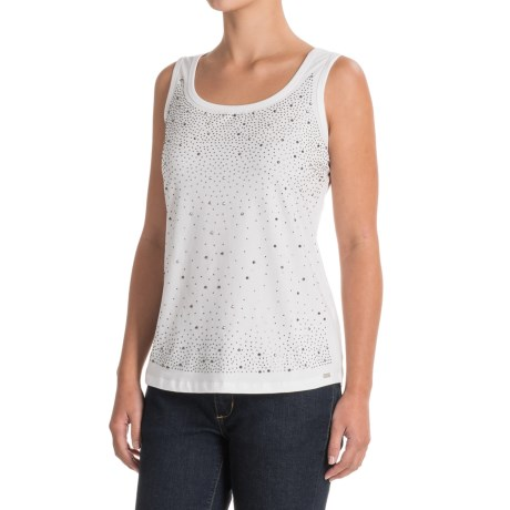 FDJ French Dressing Rhinestone Front Cami Tank Top (For Women) in White