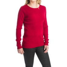 FDJ French Dressing Rib-Knit Fine Gauge Sweater - Crew Neck (For Women) in Red - Closeouts