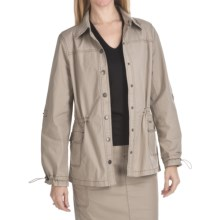 FDJ French Dressing Safari Jacket - Stretch Cotton (For Women) in Desert - Closeouts
