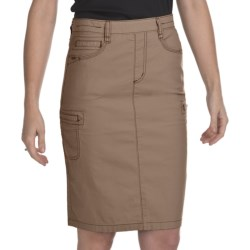 FDJ French Dressing Safari Skirt - Stretch Cotton (For Women) in Cairo Brown