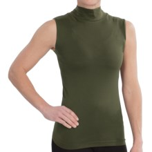 FDJ French Dressing Shirt - Mock Neck, Sleeveless (For Women) in Olive - Closeouts