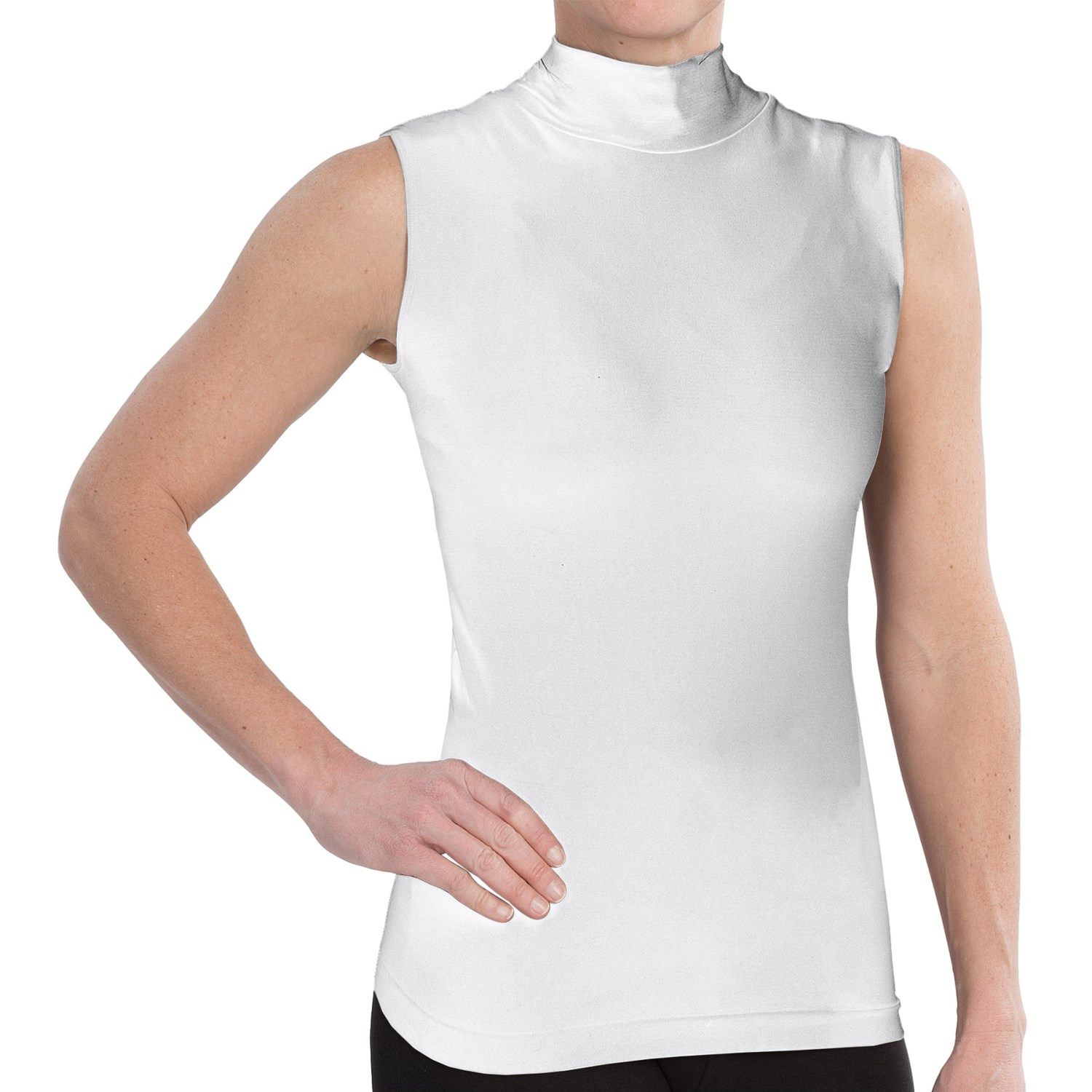 Fdj french dressing shirt for women save 66 for Sleeveless mock turtleneck shirts