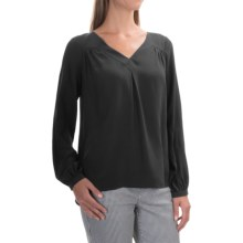 FDJ French Dressing Silk Blouse - V-Neck, Long Sleeve (For Women) in Black - Overstock