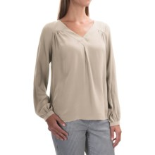 FDJ French Dressing Silk Blouse - V-Neck, Long Sleeve (For Women) in Ivory - Overstock