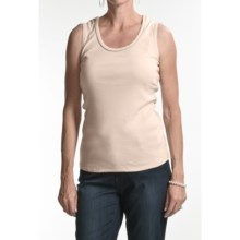 FDJ French Dressing Silver Beaded Camisole (For Women) in Flax - Closeouts
