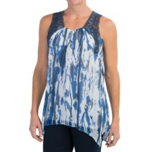FDJ French Dressing Soft Abstract Blouse - Sleeveless (For Women) in Blue - Closeouts