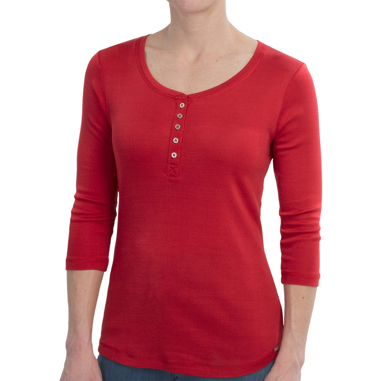 Fdj french dressing solid basic henley shirt mercerized for Women s cotton henley shirts