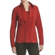 FDJ French Dressing Solid Pleat Shirt - Long Sleeve (For Women) in Burnt Red - Closeouts
