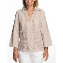 FDJ French Dressing Soutache Shirt - Long Sleeve (For Women) in Rope - Closeouts