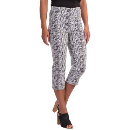 FDJ French Dressing Stretch Capris (For Women) in Black/White - Closeouts