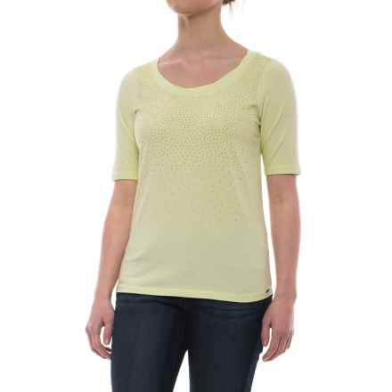 FDJ French Dressing Studded Ombre Effect T-Shirt - Short Sleeve (For Women) in Pistachio - Closeouts