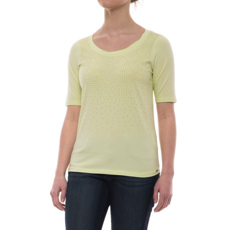 FDJ French Dressing Studded Ombre Effect T-Shirt - Short Sleeve (For Women) in Pistachio